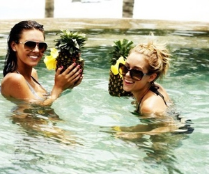 lauren conrad, friends, and pool image