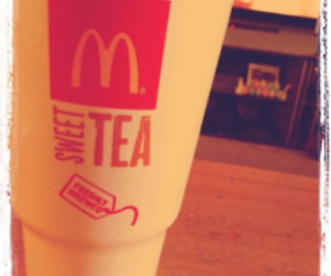 cup, sweet tea, and McDonalds image