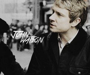 john watson, sherlock, and Martin Freeman image