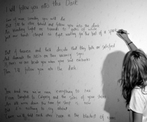 death cab for cutie, Lyrics, and i will follow you into the dark image