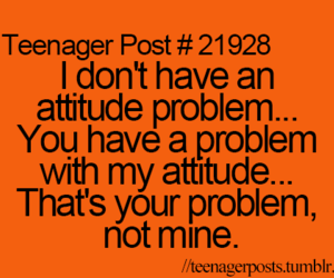 teenager post, problem, and attitude image