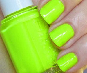 nails, neon, and green image