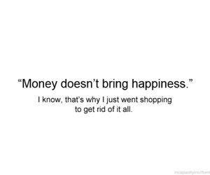 money, shopping, and quote image