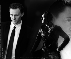 beautiful, black and white, and loki image