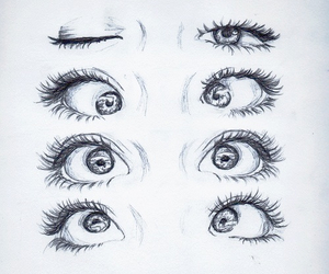 eyes, draw, and sketch image
