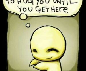 hugs, miss you, and cute image