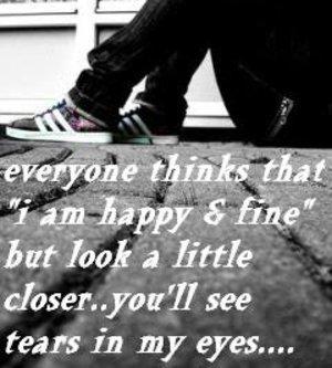 sad, tears, and alone image