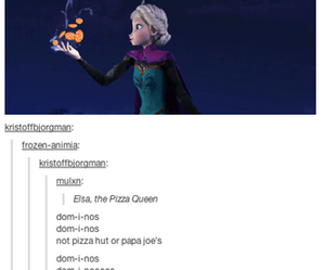 frozen, funny, and pizza image