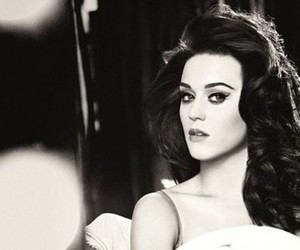 katy perry, black and white, and katy image