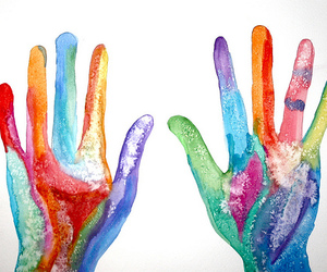 hands, art, and color image