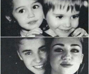 miley cyrus, justin bieber, and childhood friends image