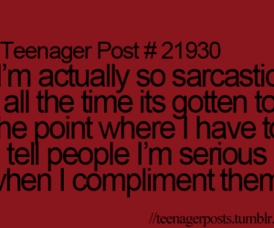 sarcasm, funny, and quote image
