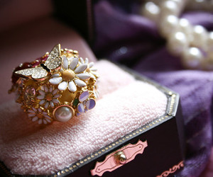 ring, flowers, and butterfly image