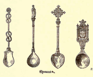 spoon, antiguedades, and cucharas image