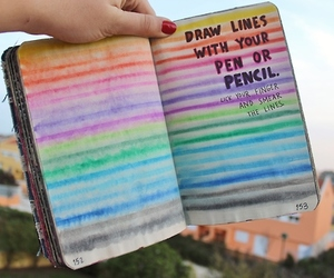 book and rainbow image