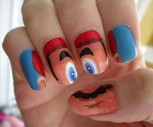 nails and mario image