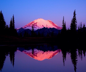 landscape, washington, and mountain image