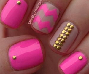 pink, nails, and design image