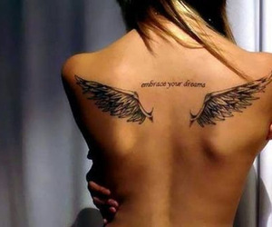 back tattoo, loveit, and embrace your dreams image