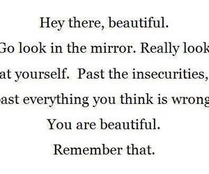 beautiful, quote, and mirror image