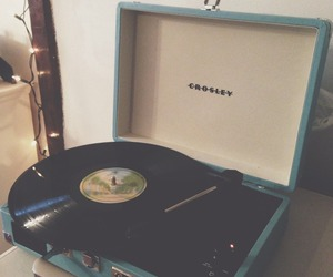 photography, record, and record player image