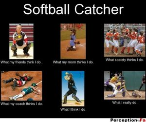softball catching image