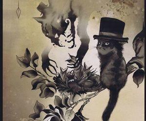 art, cat, and kitten image