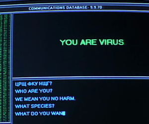 computer, virus, and aesthetic image