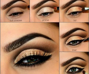 makeup, black, and eyeliner image