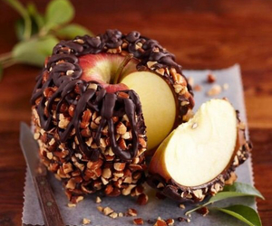 apple, food, and chocolate image