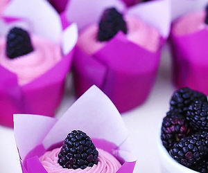 cupcake, food, and purple image