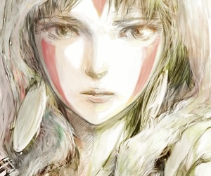 anime, princess mononoke, and art image