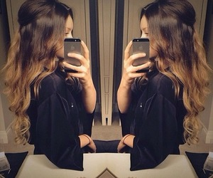 hair, iphone, and ombre image