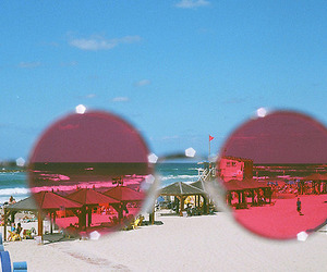 beach, summer, and glasses image