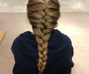blonde, hair, and french braid image