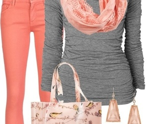 outfit, pink, and scarf image