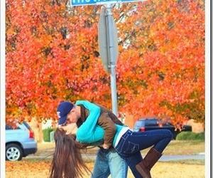 love, mistletoe, and kiss image