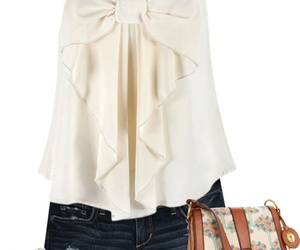 outfit, bow, and summer image