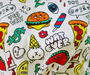 pizza, hipster, and cute image