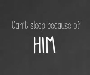 him, sleep, and love image