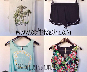 crop, shorts, and tops image