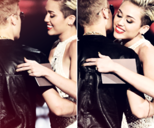 justin bieber, miley cyrus, and jiley image