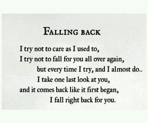 quote, love, and falling image