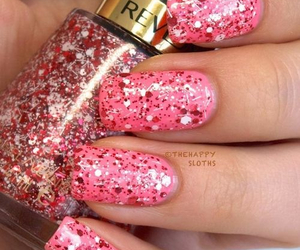 nails, pink, and bling image