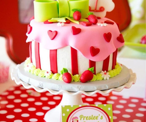 cake, red, and delicious image