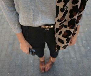 cheetah, grey, and jeans image