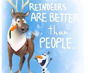 frozen, olaf, and reindeer image
