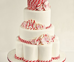 cake, decoration, and red image