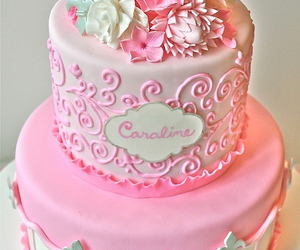 cake, delicious, and flower image