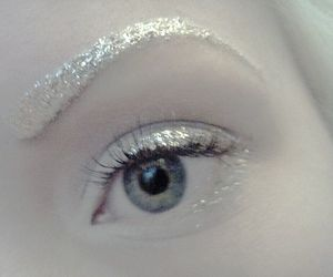 eye, white, and make up image